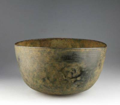 *SC* DECORATED BRONZE FOOD BOWL, ROMAN PERIOD, 1st mill BC-2nd cent AD!