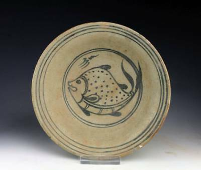 *SC* NORTHERN THAI POTTERY BOWL w. FISH MOTIF, 14th-16th cent.