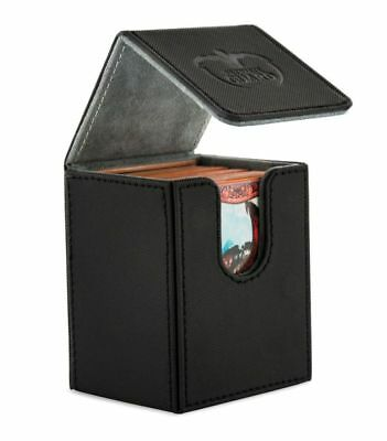 Ultimate Guard - FLIP DECK CASE XENOSKIN 100+ Black- Cards Boxing Gaming Boxing