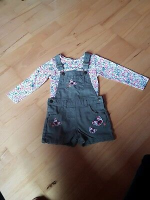 Girl's Mantaray dungarees size 2-3