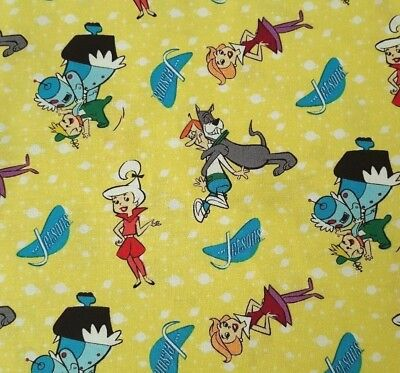 The Jetsons BTY Hanna-Barbera Quilting Treasures Family Dog Yellow