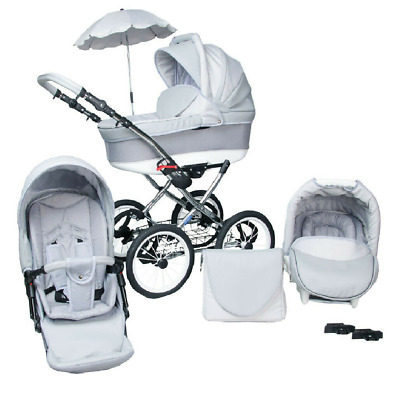 Baby Pram Stroller Buggy Pushchair Classic Retro 3in1 Travel system car seat NEW