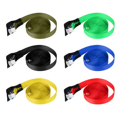 """3 Meters 1"""" Polyester Tie Down Strap for Kayak Canoe Trailers Luggage Bag"""
