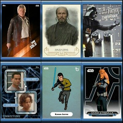 2018 FATHER'S DAY COMPLETE SET OF 6 Topps Star Wars Trader Digital Card