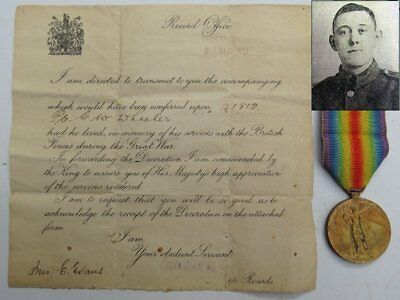 Victory Medal Charles Wheeler 41812 2nd Bn South Staffordshire KIA 27/9/1918