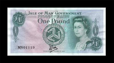 1983 Isle Of Man Qeii 1 Pound **rare Issue** (( Unc ))