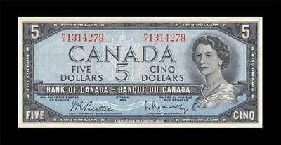 1954 BANK OF CANADA QEII $5 **Beattie & Rasminsky** (( EF ))