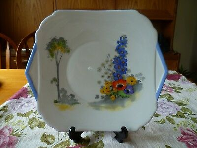 Lovely Vintage Shelley China Cake or sandwich plate  Delphinium 12217