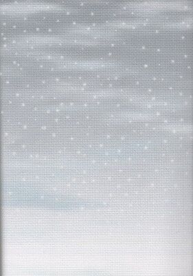 Fabric Flair Snowy Days Grey 14 count Aida - 30 x 90cm piece