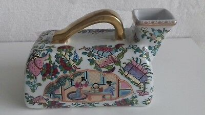 Antique Chinese Famille Rose Hand Painted Urinal Chamber Pot Bedpan