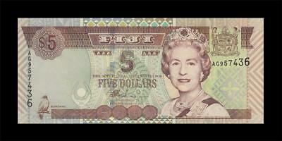 1998 British Colony Fiji Qeii $5 (( Gem Unc ))