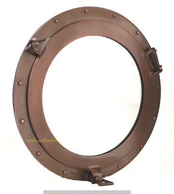 "12"" Aluminum Window Porthole Copper Antique Finish Ship Cabin Nautical Porthole"