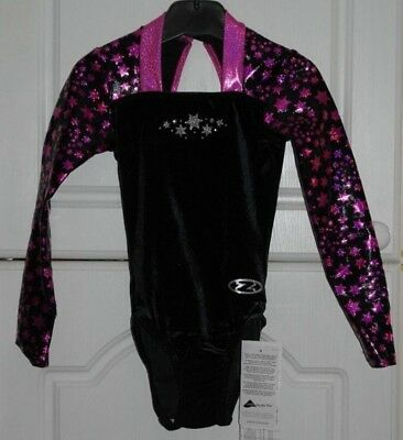 Zone  Z411 Long Sleeve Astral Black / Pink  Leotard    Age 9/10    Size 30