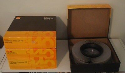Lot of 4 Kodak Carousel Slide Trays Exc. Cond in orig. boxes!