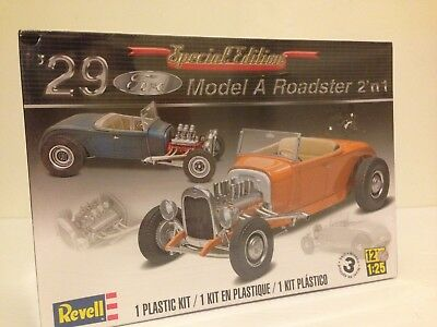1929 Revell model A  roadster 2'n1 modeled in white with clear parts
