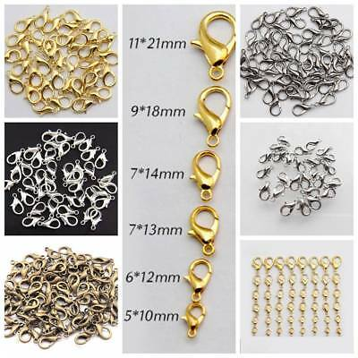 10/12/14/16/18/21mm Lobster Claws Clasp Suitable for Necklace Bracelets Jewelry