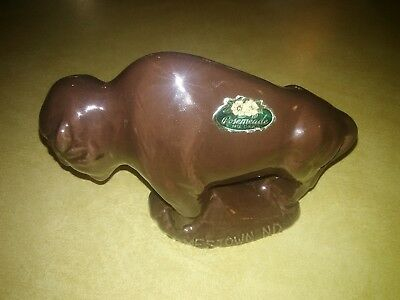 rosemeade (white clay) buffalo figurine
