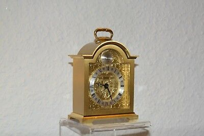 SWIZA -Tempus Fugit - retro alarm clock. Swiss Made. Brass. Running