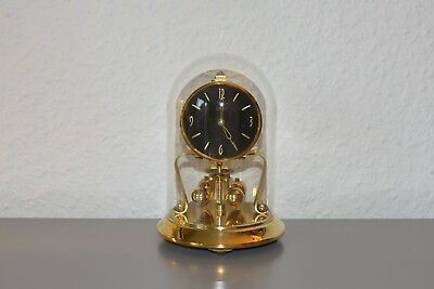 KERN 400 Days Anniversary glass dome clock. Made in Germany. Working order.Brass