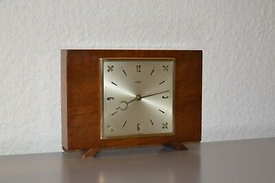 METAMEC Rare, vintage mantle clock. Made in England. 8 Days. Working order. Wood