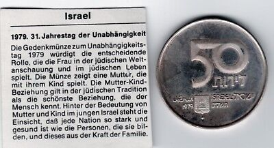Israel, 1979,50 Lirot, Stgl.31.Jahre Staat Israel, 500er Silber, 20 g, € 15,-