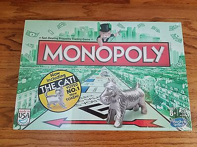 Monopoly Board Game 2013 with The Cat Token NEW