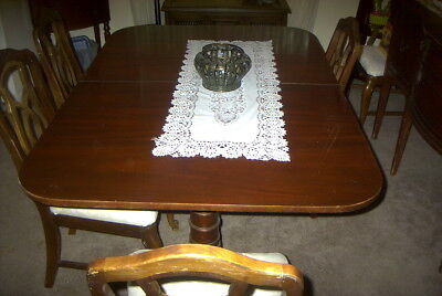 Vintage Mahogany Dining Room Table with leaf and pads