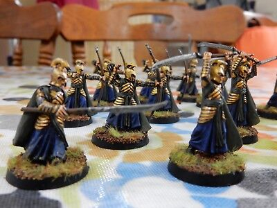 Lord of the Rings LOTR Warhammer Elves Painted 15 miniatures