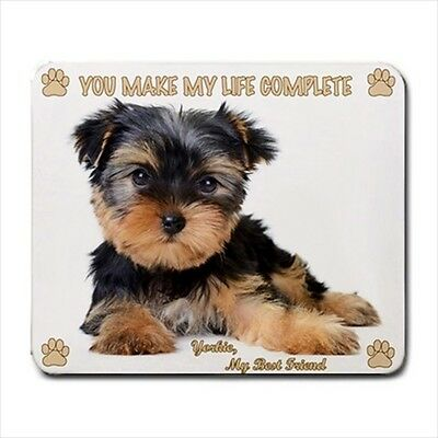 New Design Adorable YORKSHIRE TERRIER Dog Puppy Rubber Computer MOUSE PAD Mat