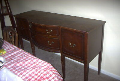 """Vintage Mahogany Dining Room Wooden Buffet as pictured. Measures 66"""" x 19-1/2""""."""