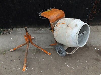 belle cement mixer barrow type with stand 240 v working