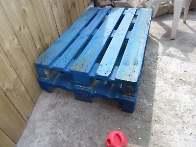 TWO BLUE Standard UK Pallets PRICED FOR QUICK SALE - BARGAIN