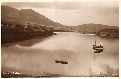 TEELIN HARBOUR CO DONEGAL IRELAND POSTCARD by MASON POSTED 1949