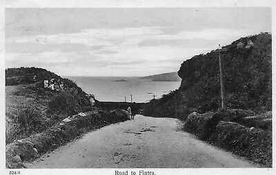 ROAD TO FINTRA CO. DONEGAL IRELAND IRISH POSTCARD POSTED in 1924