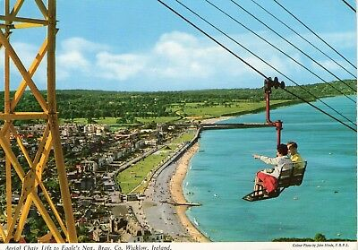 Aerial Chair Lift To Eagle's Nest Bray Wicklow Ireland John Hinde Postcard 2/223