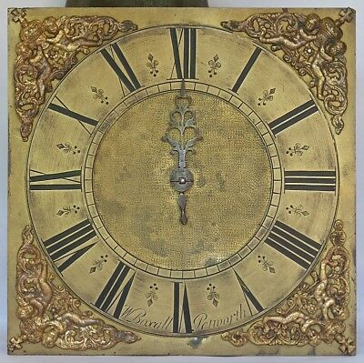 "Early 10"" 30-hour Longcase Grandfather Clock Movement, c1720"