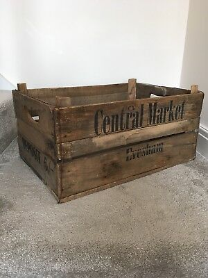 Vintage Wooden Shipping Crate Large