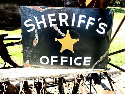 Vintage SHERIFF'S OFFICE Badge Department SIGN Law Police Enforcement Detective