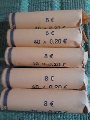 €40.00 / 40.00 Euros in rolled coins