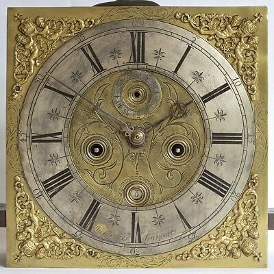 "Good Early 11"" 8-day Longcase Grandfather Clock Movement, c1700"