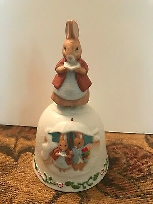 Schmid Christmas Collection By Beatirx Potter Rabbits in the Snow Music Box