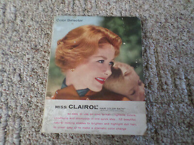 Miss Clairol Vintage Hair Color Book 1959