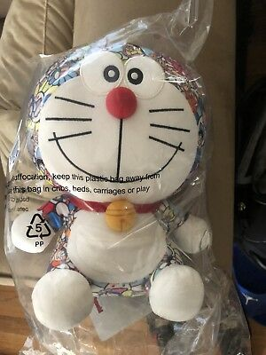 "Doraemon x Takashi Murakami x Uniqlo 9.5"" Plush Toy NEW"