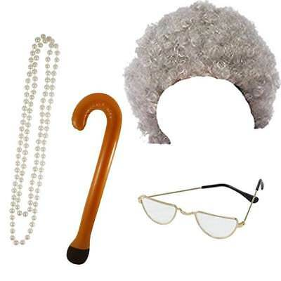 Granny Old Lady Woman Oap Grandma Fancy Dress Costume Accessories Lot
