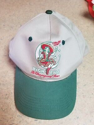 "Vintage Miller High Life ""The Champagne of Beers Snapback Hat, Moon Logo"
