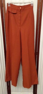 Women's Vintage Rust Colored Palazzo Pants