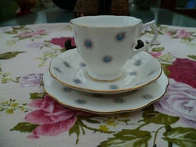 Lovely Vintage Royal Albert English China Trio Tea Cup Saucer Plate Star Of Eve