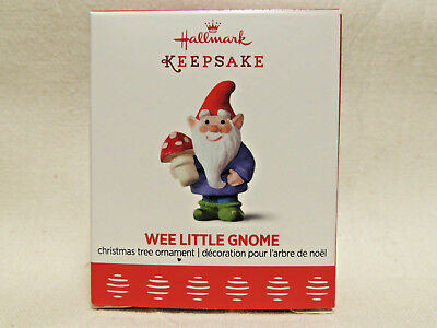 Hallmark WEE LITTLE GNOME - 2017 MINI Miniature Ornament - NEW