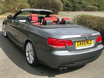 2009 59 Reg Bmw 325 M Sport Highline Convertible Grey With Red Leathers