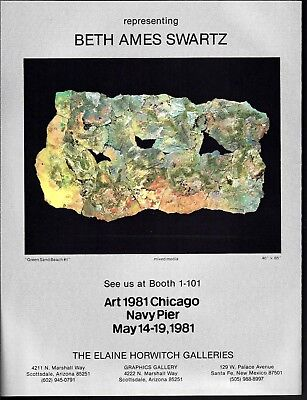 Beth Ames Swartz Navy Pier Art Exhibit 1981 Print Ad